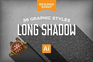 LONG SHADOW Styles For Illustrator