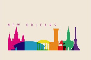 New Orleans Skyline Illustration