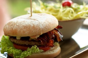 Burger and Coleslaw Salad