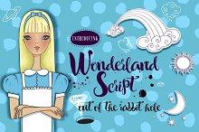 Wonderland Script + Vector Set