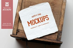 Paper & Card Closeup Mockups