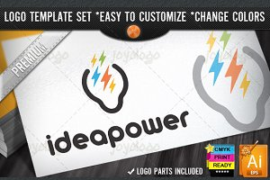 Brain Storm Idea Power Logo Template