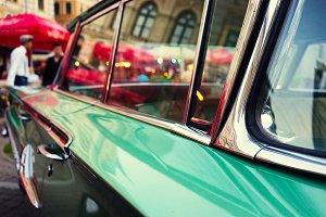 Vintage car. Riga
