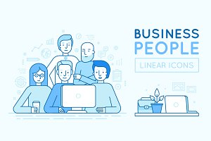Business people - vector icons
