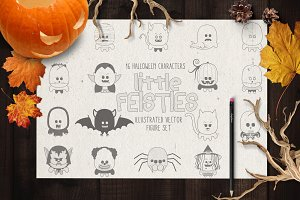 Little Feisties Halloween Vector Set