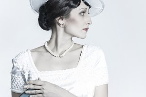 Retro Vintage fashion girl