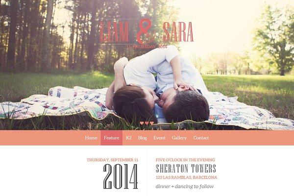 Joomla Themes: JoomlaUX - Tasteful Joomla Wedding Template