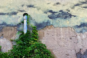 Pipe on the wall