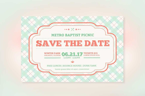 Church Picnic Flyer Template Flyer Templates Creative Market