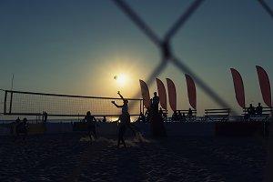 Volleyball on the beach. Latvia