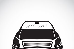 Vector image of an car design