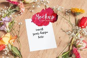 Floral Card/Print Mockup