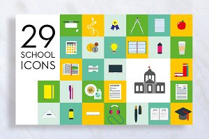 Handmade School Icons