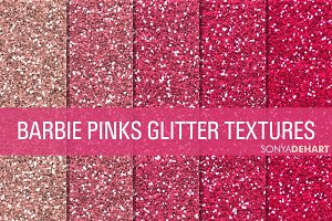 Barbie Pinks Glitter Textures