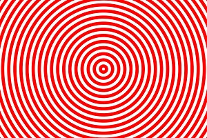 red and white circle