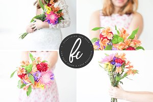 Flower Girl Stock Photo Bundle