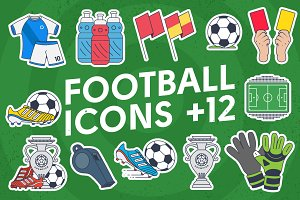 Football flat icons