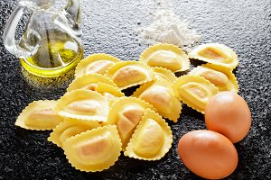 delicious fresh homemade Ravioli