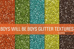Boys Will Be Boys Glitter Textures