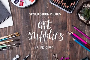 Art supplies photo set