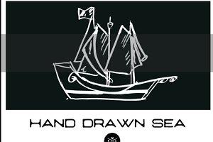 HAND DRAWN SEA ICONS