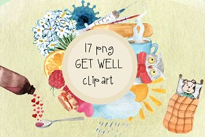 17 png Get Well Watercolor Clip Art