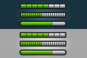 Color Striped Progress Bar Set