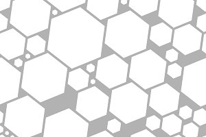 Seamless pattern with hexagons