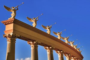 A row of roman winged