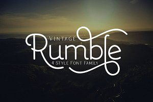 Rumble 4 Font