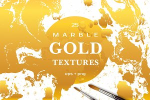 MARBLE GOLD Vector Textures