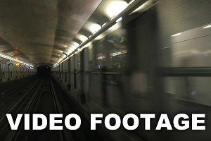 Driveless underground trains