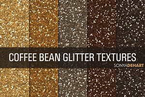 Coffee Bean Glitter Textures