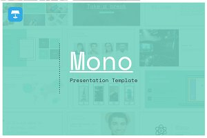 Mono Keynote Template - 25% off