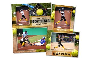 Softball Memory Mate Template Pack A