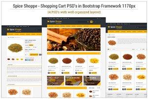 Spice Shoppe Bootstrap 14 PSD's