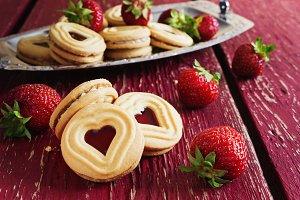 sweet valentine cookies