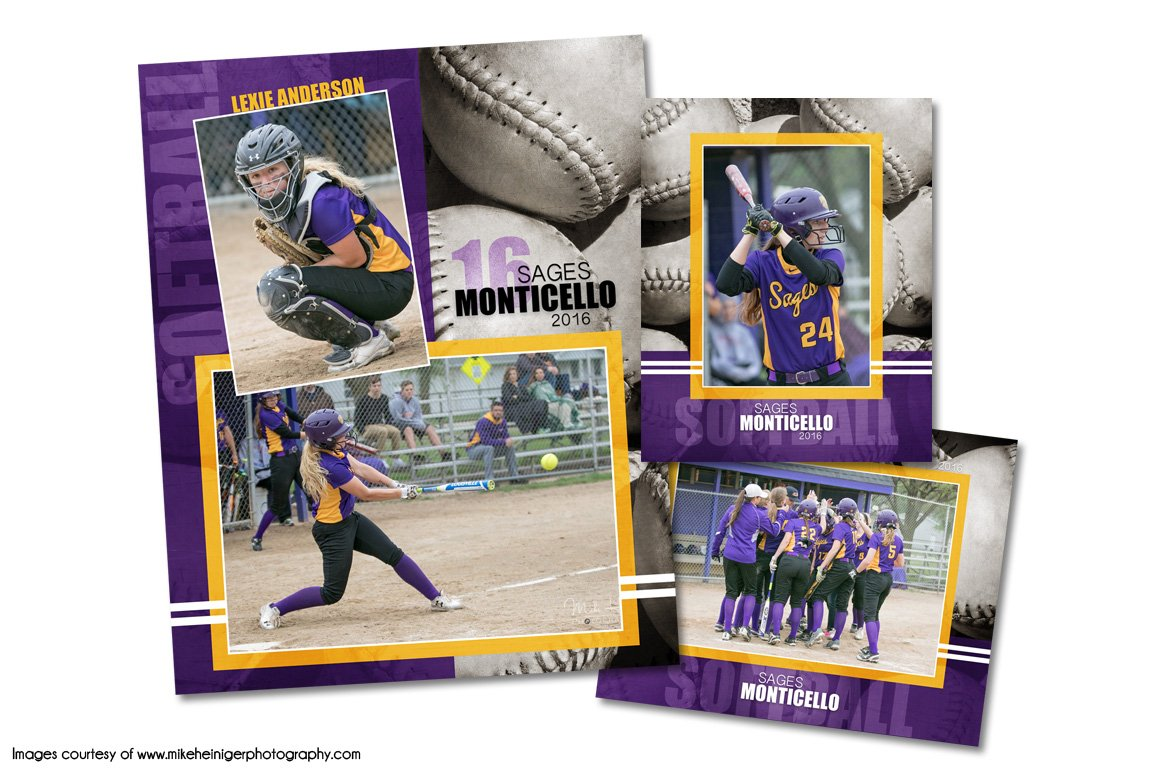 Softball memory mate template pack d flyer templates for Softball brochure templates