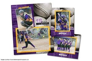 Softball Memory Mate Template Pack D