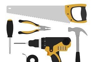 Construction tools. Vector