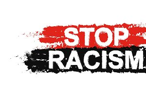 Stop racism paint sign. Vector
