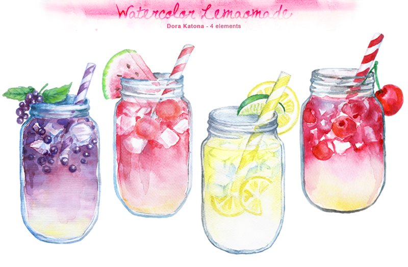 Soft Drink Watercolor