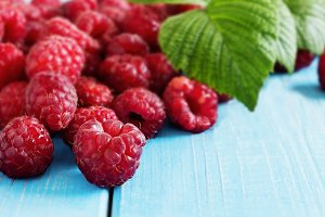 Ripe tasty raspberry