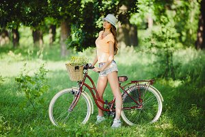 young woman drive cycle