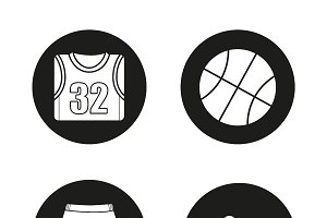 Basketball. 4 icons. Vector