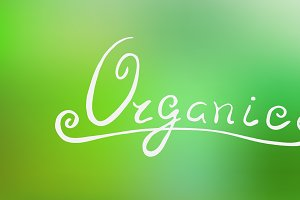 Organic lettering. Vector
