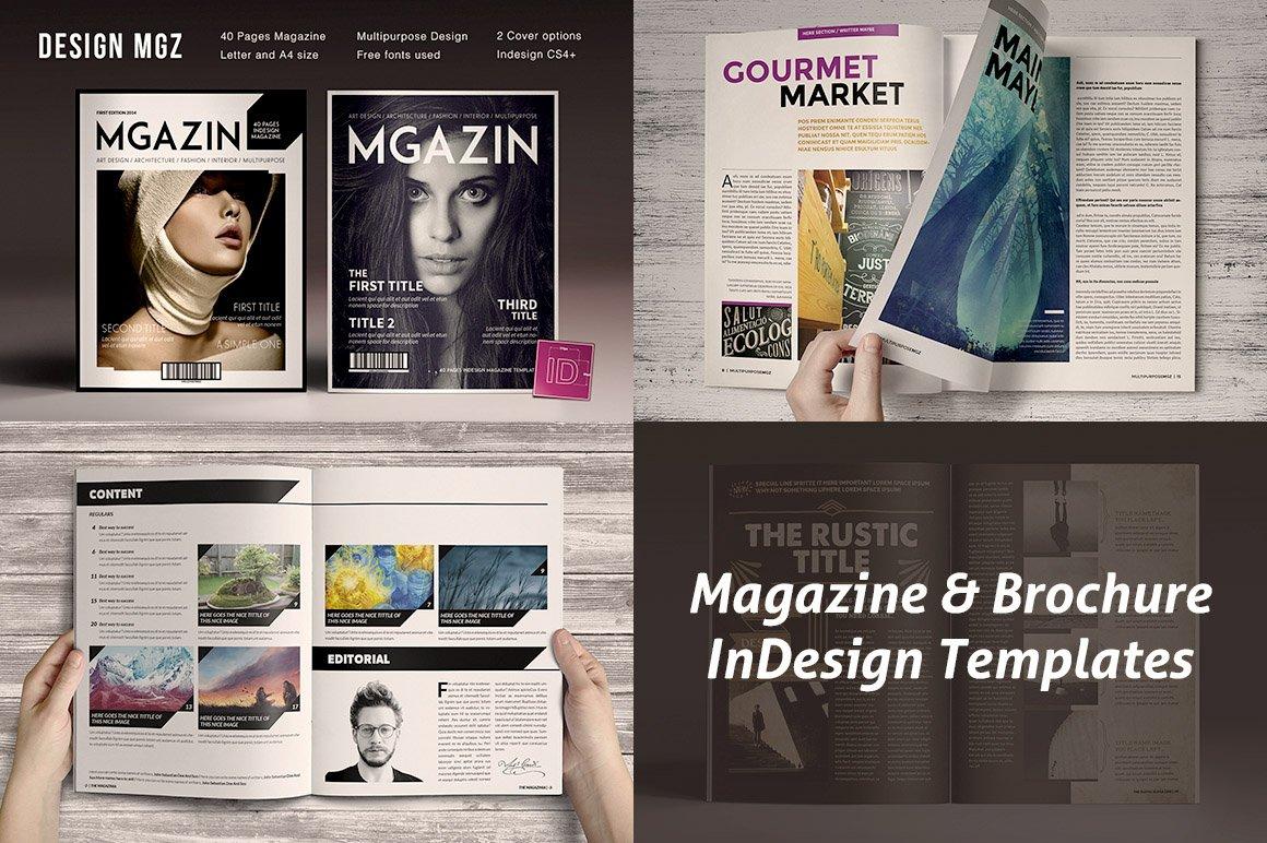 8 Indsgn Magazine Brochure Templates Creative Market