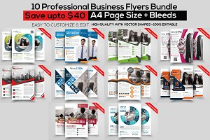 10 Business Corporate Flyer Bundle