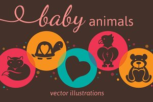 Baby Animal Vector Illustrations