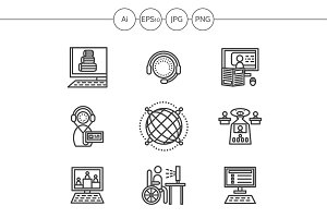 Education online line icons. Set 1